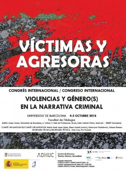 """Congrés Internacional """"Víctimes i agressores. Violència i gènere(s) a la narrativa criminal"""""""