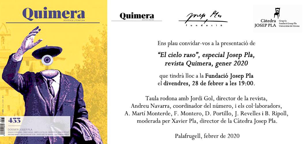 Presentació revista Quimera