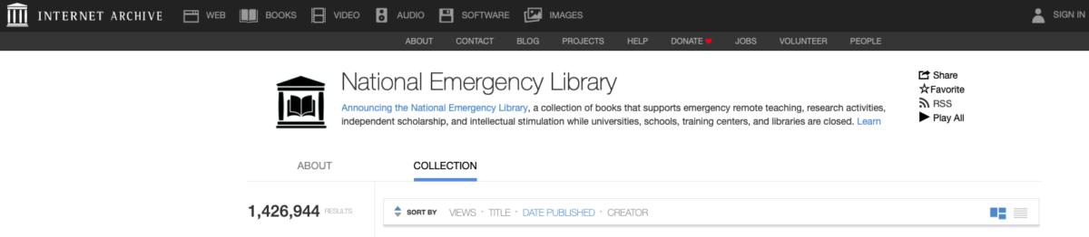 Internet Archive obre la seva biblioteca digital